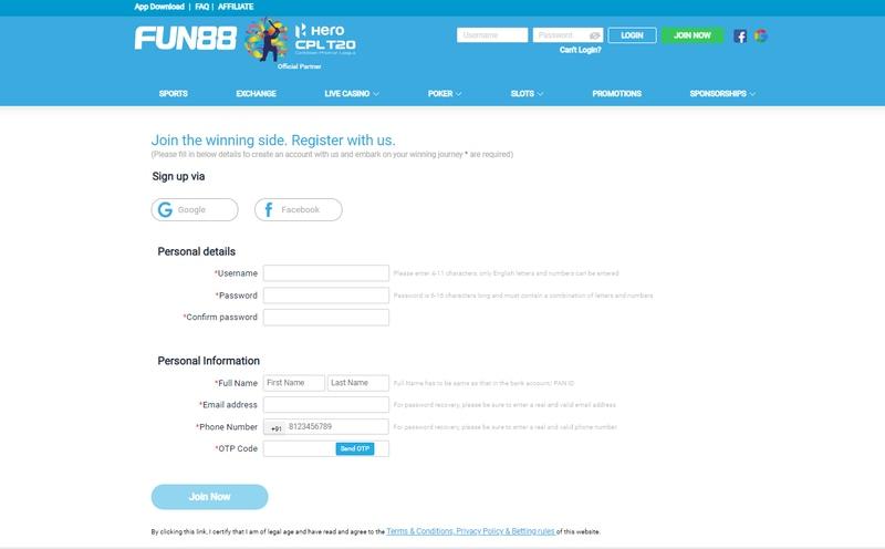 Fun88 In Mega-Credibility In Online Gaming Industry - Registration