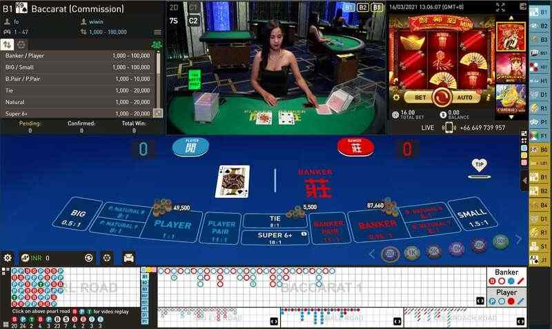 Baccarat Live Online with Club W Casino