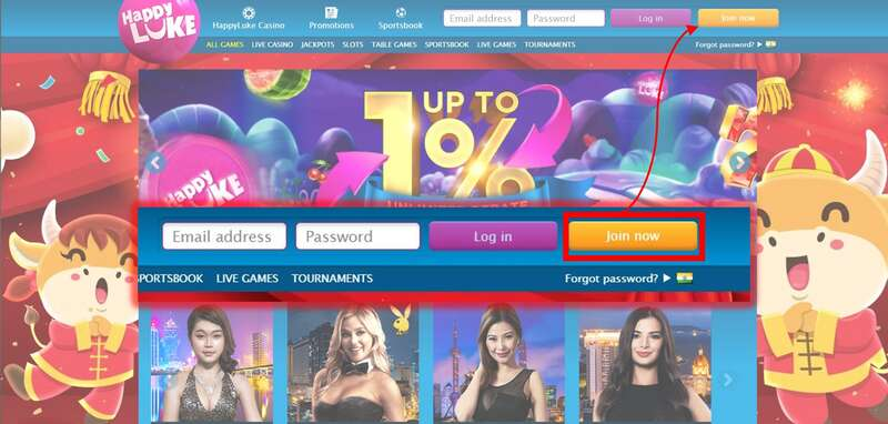 Register to Happyluke and Enjoy Exciting Games and Promotions