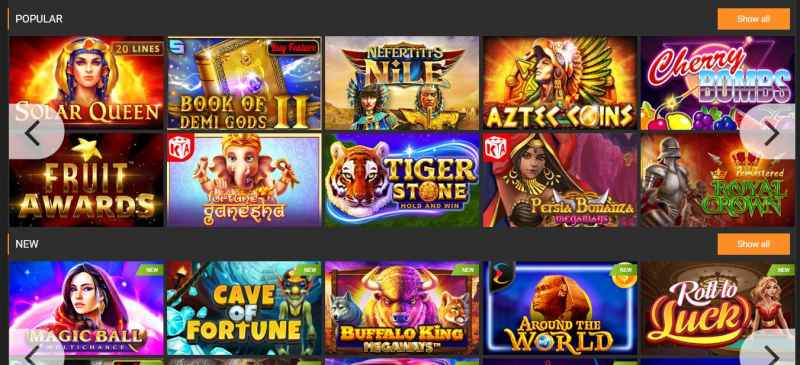 Casinos and More Games Available from 1xBit Dashboard - Slots
