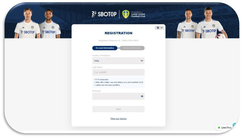 Easy Steps on How to Register Sbotop - Account Information