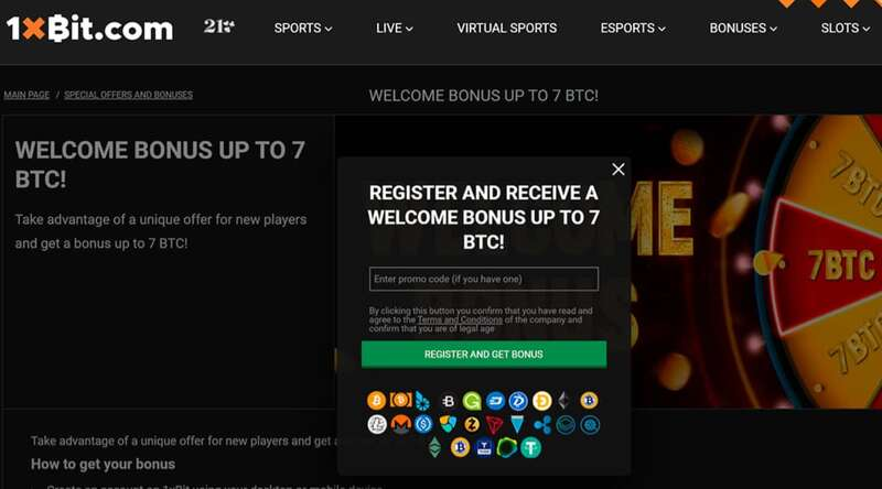 Endless Luck and Winnings When you Register to 1XBIT