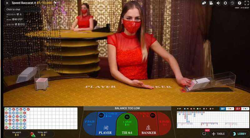 Baccarat Sbotop Casino Providers - Evolution Gaming