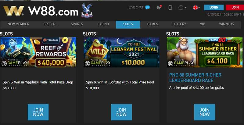 Great Bonuses and Promotions Welcome You at W88 Slots
