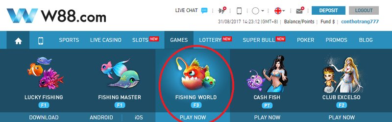 Start to Shoot Fish to Eat Coin W88 and Win Big Prizes Now
