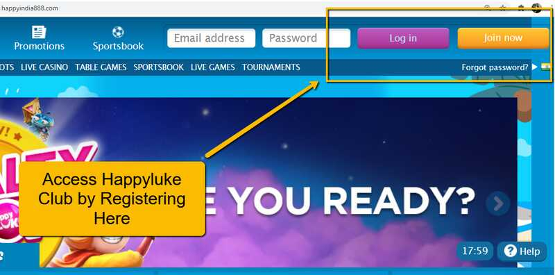 How to Log in and Play Casino Games at ClubHappyluke